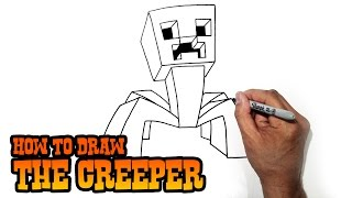 getlinkyoutube.com-How to Draw the Creeper from Minecraft