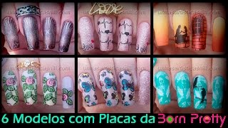 6 Modelos com placas da Born Pretty #2 - Nill Art