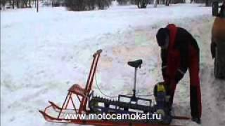 getlinkyoutube.com-Мотопривода к Финским саням 2010 ( мотофинки, финские сани с мотором)