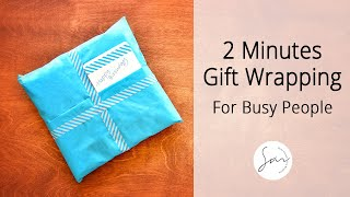 getlinkyoutube.com-2 Minutes to Make - Creative Gift Wrapping for Busy People!