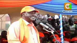 Raila in Kitale
