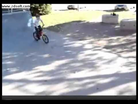 RARE Video of Justin Bieber riding his bike in 2007
