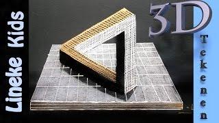 getlinkyoutube.com-Hoe teken je een onmogelijke Driehoek / 3D tekenen # 33