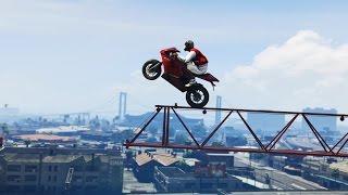 AMAZING CRANE STUNT! - (GTA V Stunts & Fails)