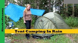 getlinkyoutube.com-Tent Camping In Rain