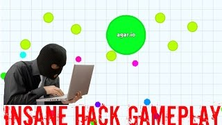 getlinkyoutube.com-AGARIO INSANE HACK GAMEPLAY #1 - 100 Bots/Minions Hack