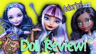 getlinkyoutube.com-Ever After High | Farrah GoodFairy, Melody Piper, & Justine Dancer | Doll Reviews