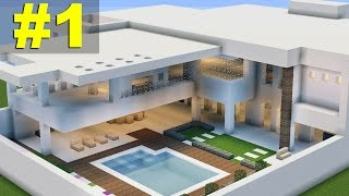 getlinkyoutube.com-Minecraft Tutorial: Casa Moderna (7) parte 1