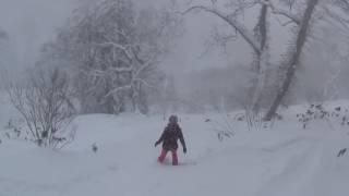 Rusutsu Snowboarding Highlights   11 January 2017