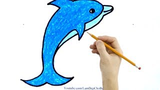 Vẽ Cá Heo - How To Draw The Dolphin