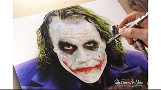 getlinkyoutube.com-Painting Joker/ Airbrush Joker -  Heath Ledger (Rafa Fonseca)