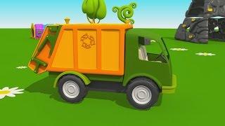 getlinkyoutube.com-Cartoni Animati per Bambini - Leo il Camion Curioso: come fare il camion della spazzatura?