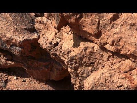 Stock Footage of Makhtesh Ramon cliffs in Israel.