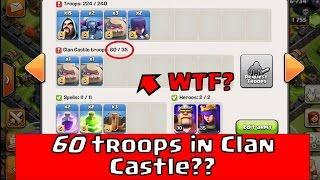 getlinkyoutube.com-Clash of Clans - 60 troop clan castle glitch