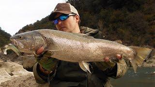 getlinkyoutube.com-Pesca de trucha común bajo cero con black minnow