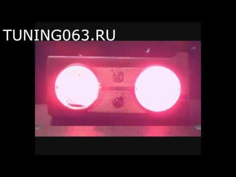 Задние фонари ВАЗ 2105, 2107 в стиле Skyline, с хромированными вставками