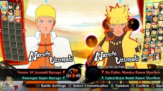 getlinkyoutube.com-Naruto Shippuden Ultimate Ninja Storm 4 - All Characters And Costumes (Including All DLC)