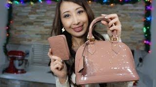 getlinkyoutube.com-Wear and Tear Review Louis Vuitton Alma bb Vernis  (color transfer/dirt spots/discolor)