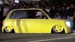 getlinkyoutube.com-【低すぎて亀になるミラ 強引突破!!】 StanceNation 2015 スタンスネーションJAPAN 車高短 シャコタンLowered Low car exhaust