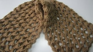 getlinkyoutube.com-Howto Crochet  Scarf  Free Pattern  diy  ganchillo bufanda tutorial easy  3d step by step