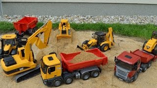 getlinkyoutube.com-BRUDER TRUCK CAT Construction company