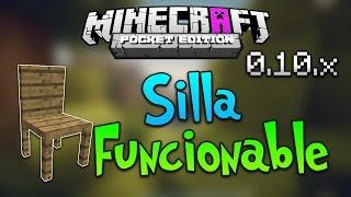 getlinkyoutube.com-Como Hacer una Silla Funcionable | Truco - Minecraft PE 0.10.4