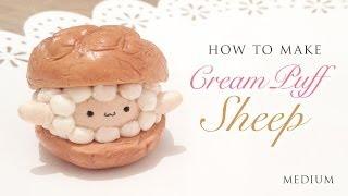 getlinkyoutube.com-DIY The Cutest Cream Puff Sheep - Easy Clay Tutorial