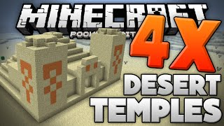getlinkyoutube.com-4 DESERT TEMPLES at SPAWN!!! - Best MCPE 0.13.0 Temple Seed - Minecraft PE (Pocket Edition)