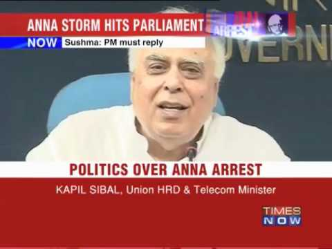 Politics over Anna Hazare's arrest