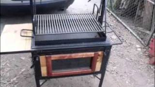 getlinkyoutube.com-MISTER GRILL ASADORES TIPO ATAÚD PARRILLAS STAINLESS STEEL CHARCOAL ROASTER MICROWAVE OVEN CAJUN