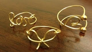 getlinkyoutube.com-DIY Wire Wrap Rings (Midi and Regular)