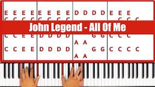 All Of Me John Legend Piano Tutorial - EASY
