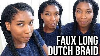 getlinkyoutube.com-Faux Long Dutch Braids w/ Synthetic Hair - Naptural85