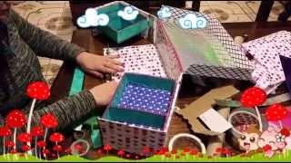 getlinkyoutube.com-Organizador con caja de zapatos (reciclaje)