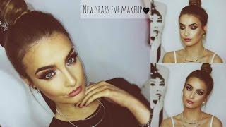 getlinkyoutube.com-GRWM: New Years Eve Makeup Tutorial 2015 | Glitter Smokey Eye