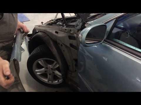 Замена переднего крыла Mercedes Benz CLK W209