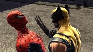 getlinkyoutube.com-Spider-Man: Web of Shadows - Walkthrough Part 18 - Scarring Partners: Spider-Man Vs. Wolverine