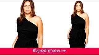 getlinkyoutube.com-10 Vestidos Negros de Noche Para Gorditas