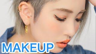 getlinkyoutube.com-Latest Japanese MAKEUP TREND TUTORIAL by Kawaii model Marin Matsuzaki | 松崎茉鈴のトレンドギャルメイク講座