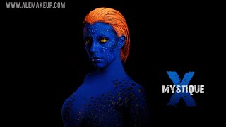 getlinkyoutube.com-Maquillaje y disfraz de Mística de X-Men // X-Men Mystique make up & costume (cosplay)