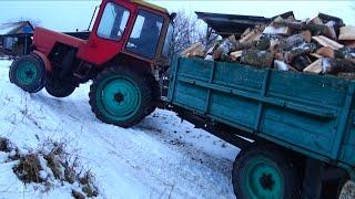 getlinkyoutube.com-Как ВЛАДИМИРЕЦ Т-25А ехал на ГОРУ с гружёным прицепом.