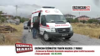 Üzümlü'de Minibüs Bahçe Duvarına Çarptı: 2 Yaralı