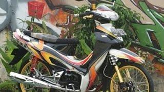 getlinkyoutube.com-Motor Trend Modifikasi | Video Modifikasi Motor Honda Karisma Velg Jari-jari Airbrush Terbaru