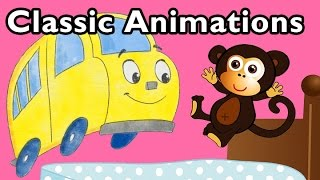 getlinkyoutube.com-Five Little Monkeys and More Classic Animations | Nursery Rhymes from Mother Goose Club!