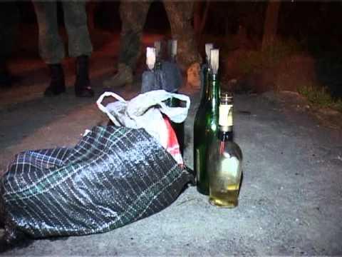 """В центре Одессы полицейские обнаружили семь бутылок с """"коктейлями Молотова""""."""