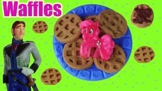 getlinkyoutube.com-MLP Pinkie Pie Play Doh Waffle Breakfast Truck Disney Frozen Prince Hans Doll Toy Part 2