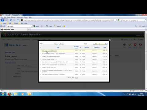 Opace Joomla Video Tutorials 8: How to Add Menu Link Guide