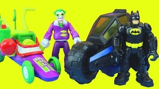 getlinkyoutube.com-Joker's Dream with Batman Batcycle Joker Funny car Captain America Thor Wolverine Spider-man