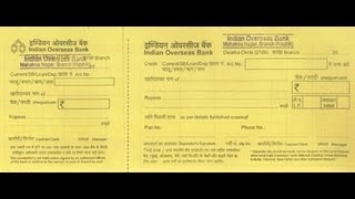 In how to fill deposit slip of indian overseas bank youtube ccuart Image collections