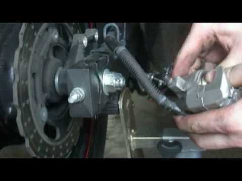 Howto: Replace Motorcycle Rear Brake Pads in 10 mins ('09 Ninja 250)